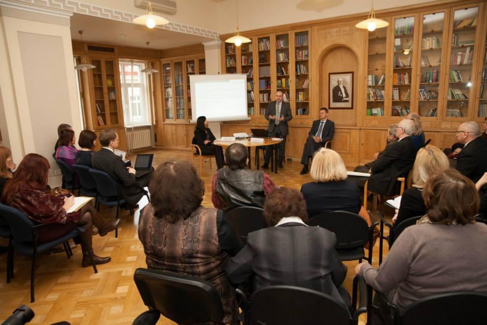 Foto no diskusijas ar Finanšu Ministriju 28.februārī, 2014